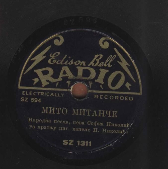 SOFKA NIKOLIC Mito Mitance Edison Bell SZ 1311 SZ 594
