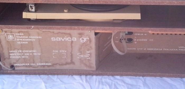 gramofon radio ISKRA Savica 6